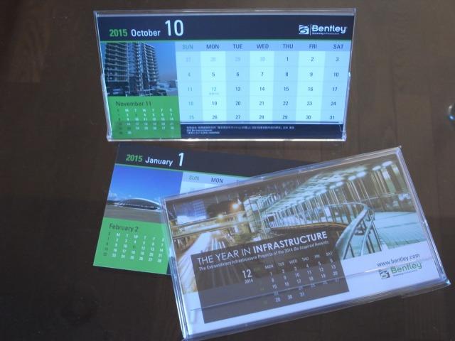 2015年ベントレーシステムズのカレンダー10月に有限会社高橋建築研究所マンション作品掲載 その1